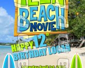 Teen Beach Movie Personalized 4x6 Birthday Party Invitations - Style 1