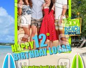 Teen Beach Movie Personalized 4x6 Birthday Party Invitations - Style 3