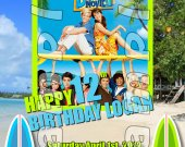 Teen Beach Movie Personalized 4x6 Birthday Party Invitations - Style 4