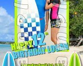 Teen Beach Movie Personalized 4x6 Birthday Party Invitations - Style 5