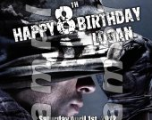 Call of Duty Ghosts Personalized 4x6 Birthday Party Invitations - Style 1