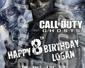 Call of Duty Ghosts Personalized 4x6 Birthday Party Invitations - Style 2