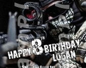 Call of Duty Ghosts Personalized 4x6 Birthday Party Invitations - Style 3