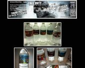 Call of Duty Ghosts Set of 15 Water Bottle Labels - Make Great Party Favors - Style 1