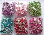 top quality 6mm 500pcs matt fish rondelle spacer tone red purple green blue pink rose black multicolor crystal rhinestone jewelry finding