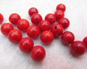 top quality 12mm 12pcs naturl coral gemstone Lucite round ball red pink white oranger mixed charm bead--half drilled