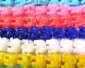 fashon high quality 12x14mm 5strands  resin/plastic/acrylic gergous charm bead animal elephant handmade assortment