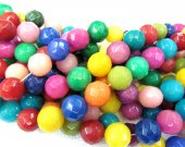 high quality 8mm 5strands 16inch natural jade gergous ,round ball pink red green purple blue white black  mixed jewelry bead