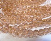AAA grade 5strands 8mm  crystal gergous round heart  handmade faceted  champagne multicolor jewelry bead