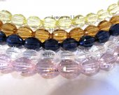 AAA grade 5strands 7x10mm  crystal gergous rice barrel egg handmade faceted clear multicolor jewelry bead