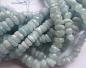 wholesale 9-10mm 2strands natural aquamarine-beryl gemstone  freeform nuggets rondelle abacus  faceted blue jewelry beads