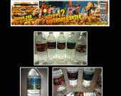 The Nut Jop Set of 15 Water Bottle Labels - Make Great Party Favors