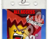 The Lego Movie Set of 12 VIP Party Invitation Passes - Style 5