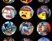 The Lego Movie Set of 12 2.5-Inch Round Personalized Stickers