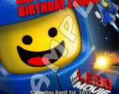 The Lego Movie Personalized 4x6 Birthday Party Invitations - Style 4