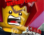 The Lego Movie Personalized 4x6 Birthday Party Invitations - Style 5