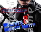 Robo Cop Personalized 4x6 Birthday Party Invitations - Style 1