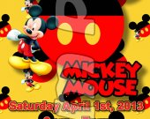 Mickey Mouse Ticket Style Personalized Party Invitations - Style 4