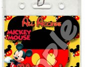 Mickey Mouse Set of 12 VIP Party Invitation Passes or Party Favors - Style 4