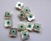 free ship--10pcs 10mm ,Top Quality ,MOP shell mother of pearl  clove  roundel coin oval clove cross hand   evil  assortment cabochons beads