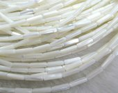 70strands 4x8mm ,MOP shell mother of pearl column tube  brown white mixed jewelry beads