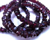 high quality 5x8mm 8inch genuine garnet rhodolite beads  round  rondelle faceted rose red jewelry beads bracelete