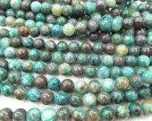 bulk 8mm  green chrysoclla  gemstone round ball green  jewelry  beads --5strands 16inch/L