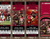 San Francisko 49ers  Football Party  Invitation - for Birthday, Baby Shower, Save the Date - Printable, DIY