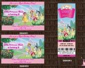 Little Disney Princesses Birthday Party Invitation with Photo 05 - Digital File - Printable