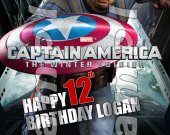 Captain America Personalized 4x6 Birthday Party Invitations - Style 2