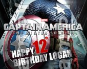 Captain America Personalized 4x6 Birthday Party Invitations - Style 3