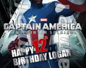 Captain America Personalized 4x6 Birthday Party Invitations - Style 4
