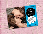 """Birthday Invitation on theme """"The Fault in Our Stars"""" - Digital File, Printable, DIY"""