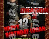 HOW TO TRAIN YOUR DRAGON 2 Personalized 4x6 Birthday Party Invitations - Style 1