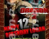 HOW TO TRAIN YOUR DRAGON 2 Personalized 4x6 Birthday Party Invitations - Style 2