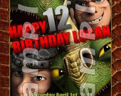 HOW TO TRAIN YOUR DRAGON 2 Personalized 4x6 Birthday Party Invitations - Style 3