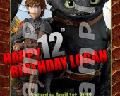 HOW TO TRAIN YOUR DRAGON 2 Personalized 4x6 Birthday Party Invitations - Style 5