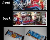 AMAZING SPIDERMAN 2 Set of 12 Personalized Candy Bar Wrappers Party Favors