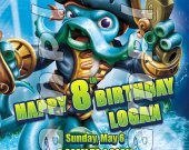 SKYLANDERS SWAPFORCE Personalized 4x6 Birthday Party Invitations - Style 1