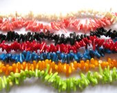 wholesale  ocean coral 6-12mm 7strands,bamboo branch chips twig pink salmon red green blue black yellow assortment beads