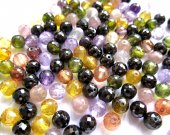 last batch 8mm 120pcs  cubic zirconia CZ gemstone roud ball crimson faceted multicolor jewelry beads
