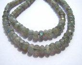 3x5mm-10x14mm 2strands genuine labradorite  beads high quality rondelle abacus faceted blue jewelry beads