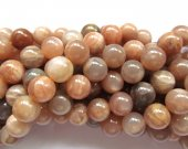 btach 6strands 8mm  natural sunstone gemstone round ball grey oranger loose beads
