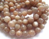 "5strands 6-14mm  natural sunstone gemstone round ball faceted oranger gray  loose beads jewelry 16""/per"