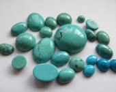 wholesale bulk 6-10mm 150pcs cabochons turquoise roundel coin blue green  jewelry beads