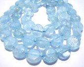FREE SHIP bulk  6-7mm gemstone roundelle disc coin  natural aquamarine-beryl stone 5strands 16inch/per