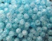 6-12mm full strand high quality natural quartz round ball cracked lemon aqua blue assortment jewelry beads