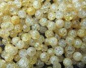 6-12mm full strand high quality natural quartz round ball cracked lemon yellow assortment jewelry beads