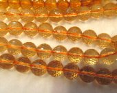 6mm 8mm 10mm 12mm full strand AAA quality  crystal citrine quartz beads round ball  faceted jewelry beads