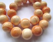 12-18mm 16inch top quality camero conch natural queen shell gergous round ball yellow charm bead